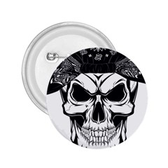 Kerchief Human Skull 2 25  Buttons by Mariart