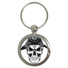 Kerchief Human Skull Key Chains (round)  by Mariart