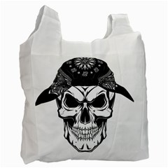 Kerchief Human Skull Recycle Bag (one Side)