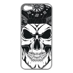 Kerchief Human Skull Apple Iphone 5 Case (silver)