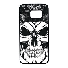 Kerchief Human Skull Samsung Galaxy S7 Black Seamless Case by Mariart