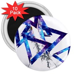 Metal Triangle 3  Magnets (10 Pack)