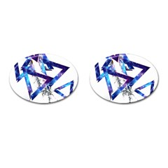 Metal Triangle Cufflinks (oval) by Mariart
