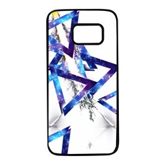 Metal Triangle Samsung Galaxy S7 Black Seamless Case by Mariart