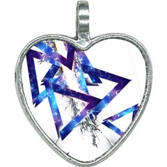 Metal Triangle Heart Necklace