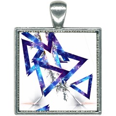 Metal Triangle Square Necklace by Mariart