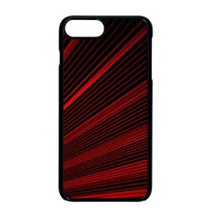 Line Geometric Red Object Tinker Apple Iphone 8 Plus Seamless Case (black)
