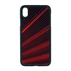 Line Geometric Red Object Tinker Apple Iphone Xr Seamless Case (black)