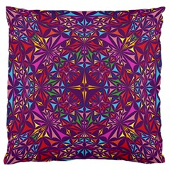 Kaleidoscope Triangle Pattern Standard Flano Cushion Case (two Sides) by Mariart