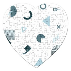 Shape Vector Triangle Jigsaw Puzzle (heart) by Mariart