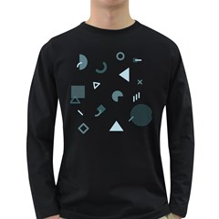 Shape Vector Triangle Long Sleeve Dark T Shirt