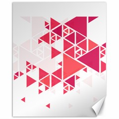 Red Triangle Pattern Canvas 16  X 20  by Mariart