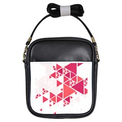 Red Triangle Pattern Girls Sling Bag