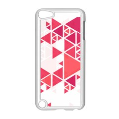 Red Triangle Pattern Apple Ipod Touch 5 Case (white)