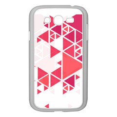 Red Triangle Pattern Samsung Galaxy Grand Duos I9082 Case (white)