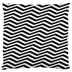Zigzag Chevron Large Flano Cushion Case (one Side) by Mariart