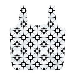 Star Background Full Print Recycle Bag (l)