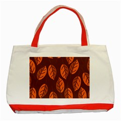 Pattern Leaf Plant Classic Tote Bag (red)