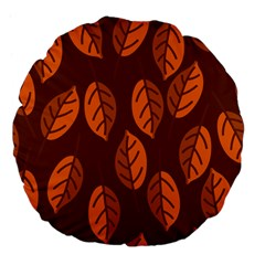 Pattern Leaf Plant Large 18  Premium Flano Round Cushions