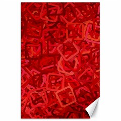 Red Pattern Technology Background Canvas 20  X 30
