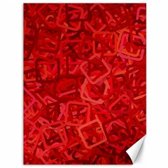 Red Pattern Technology Background Canvas 36  X 48