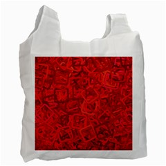 Red Pattern Technology Background Recycle Bag (one Side)
