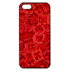 Red Pattern Technology Background Apple Iphone 5 Seamless Case (black)