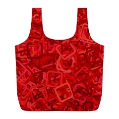 Red Pattern Technology Background Full Print Recycle Bag (l)