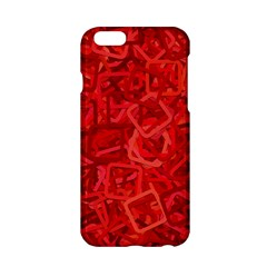 Red Pattern Technology Background Apple Iphone 6/6s Hardshell Case