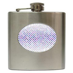Star Curved Background Geometric Hip Flask (6 Oz)