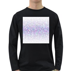 Star Curved Background Geometric Long Sleeve Dark T Shirt
