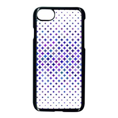 Star Curved Background Geometric Apple Iphone 7 Seamless Case (black) by Mariart