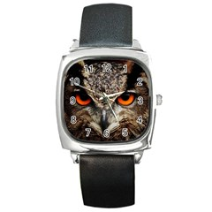 Owl s Scowl Square Metal Watch by WensdaiAddamns