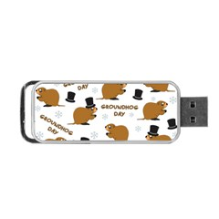 Groundhog Day Pattern Portable Usb Flash (one Side)