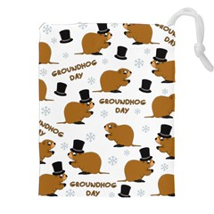 Groundhog Day Pattern Drawstring Pouch (xxl)