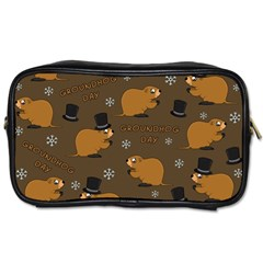 Groundhog Day Pattern Toiletries Bag (one Side)