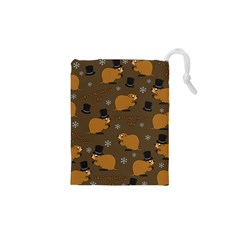 Groundhog Day Pattern Drawstring Pouch (xs)