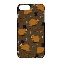 Groundhog Day Pattern Apple Iphone 7 Plus Hardshell Case by Valentinaart