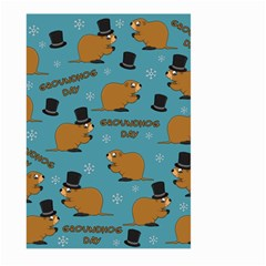 Groundhog Day Pattern Large Garden Flag (two Sides)