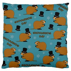Groundhog Day Pattern Large Cushion Case (two Sides)
