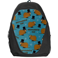 Groundhog Day Pattern Backpack Bag