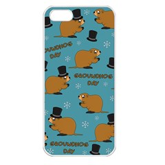 Groundhog Day Pattern Apple Iphone 5 Seamless Case (white)
