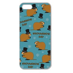 Groundhog Day Pattern Apple Seamless Iphone 5 Case (clear)