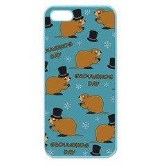 Groundhog Day Pattern Apple Seamless Iphone 5 Case (color)