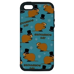 Groundhog Day Pattern Apple Iphone 5 Hardshell Case (pc+silicone)