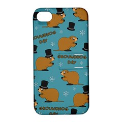 Groundhog Day Pattern Apple Iphone 4/4s Hardshell Case With Stand