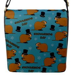 Groundhog Day Pattern Flap Closure Messenger Bag (s)
