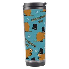 Groundhog Day Pattern Travel Tumbler