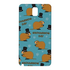 Groundhog Day Pattern Samsung Galaxy Note 3 N9005 Hardshell Back Case