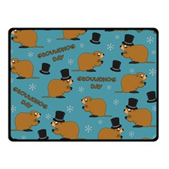 Groundhog Day Pattern Double Sided Fleece Blanket (small)